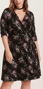 Torrid floral print dress